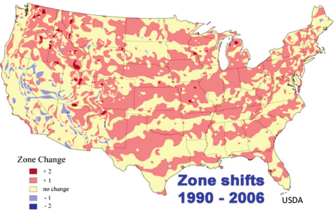 Zone shifts 1990-2006